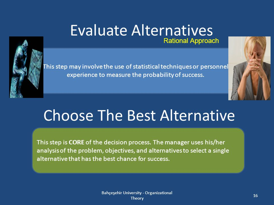 Evaluate Alternatives