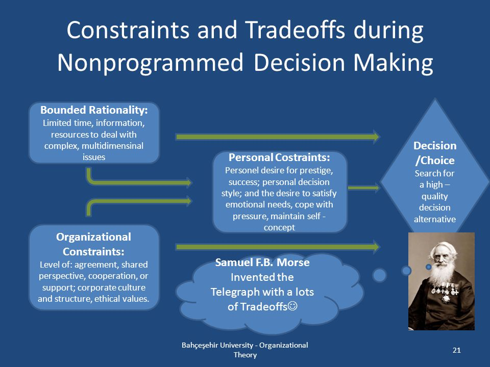 Constraints and Tradeoffs during Nonprogrammed Decision Making