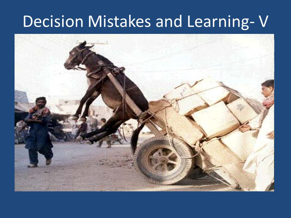 Decision Mistakes and Learning- V