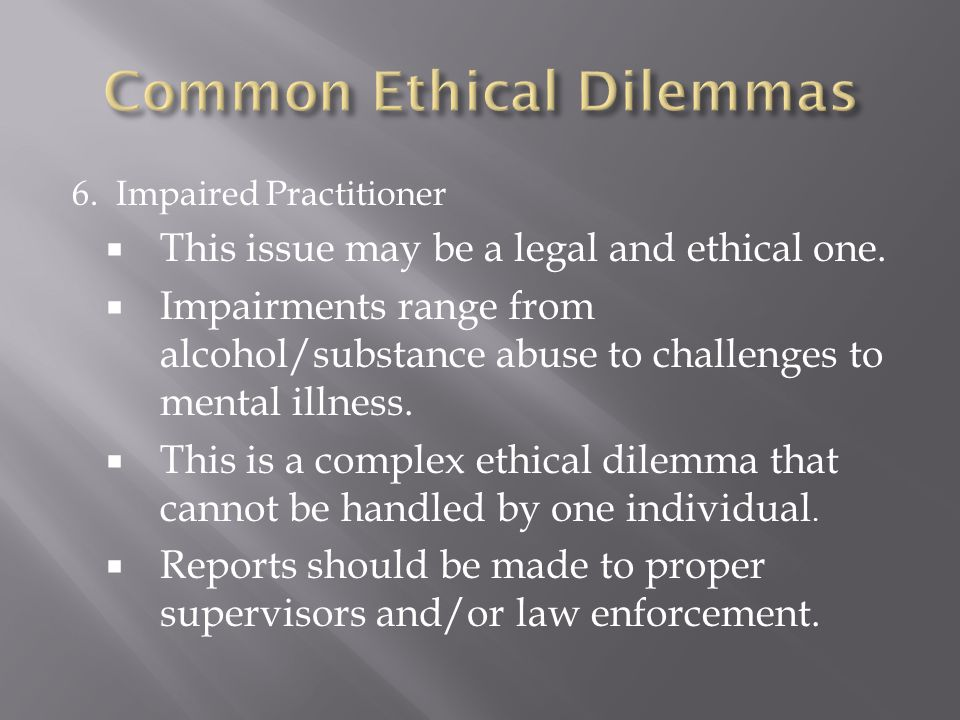 ethical issue of alcohol The ethical dilemma arises from competing autonomy-based and  ethical issues and addiction  journal of addictive diseases volume.