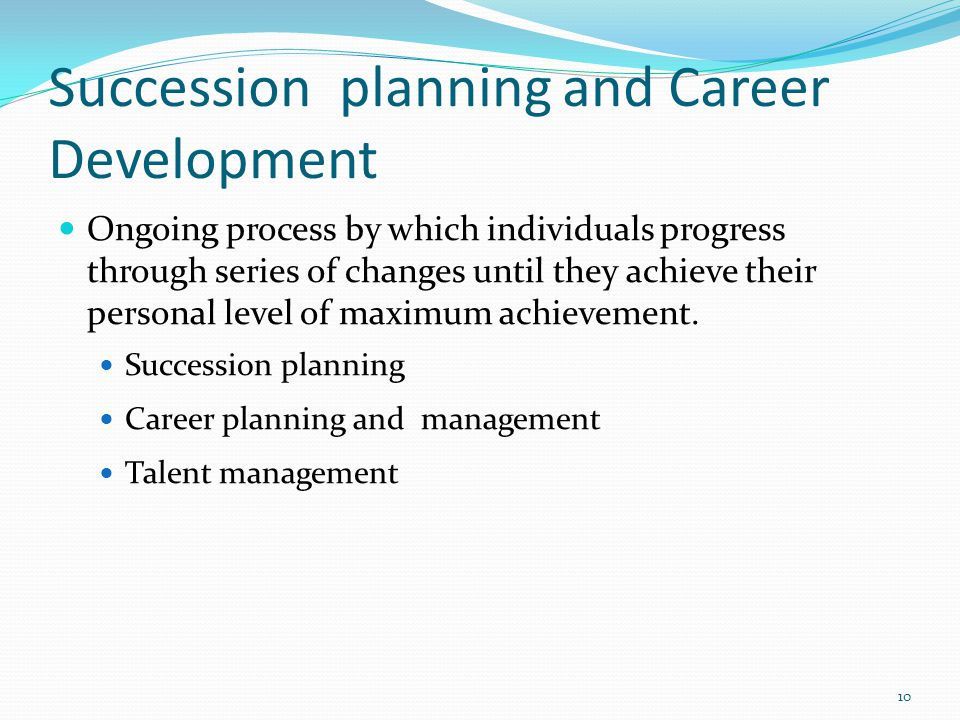 Succession planning and Career Development
