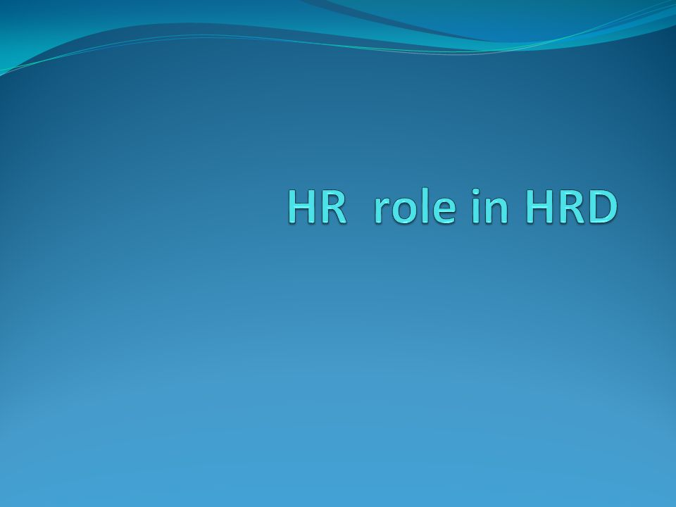 HR role in HRD