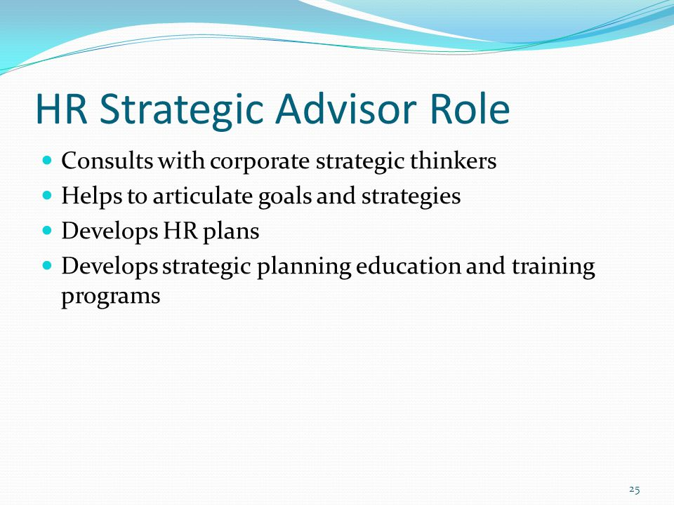 HR Strategic Advisor Role