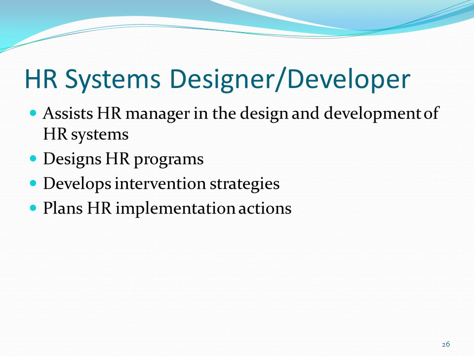 HR Systems Designer/Developer