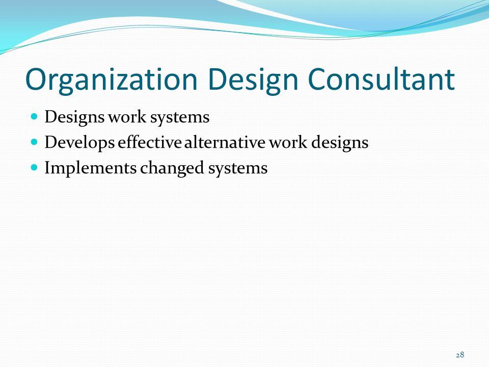 Organization Design Consultant