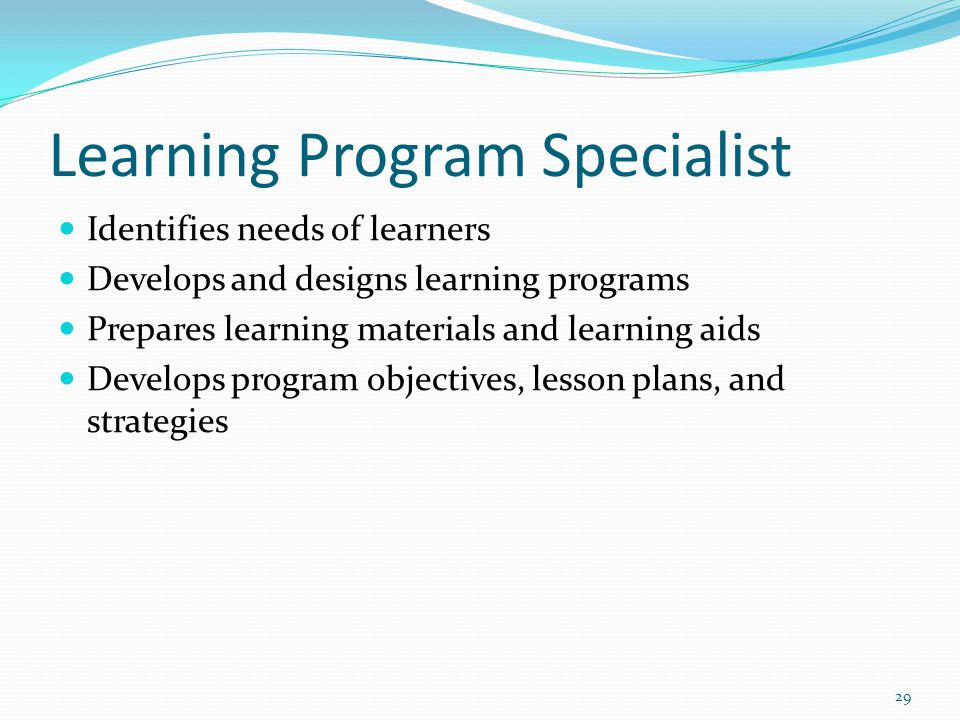 Learning Program Specialist