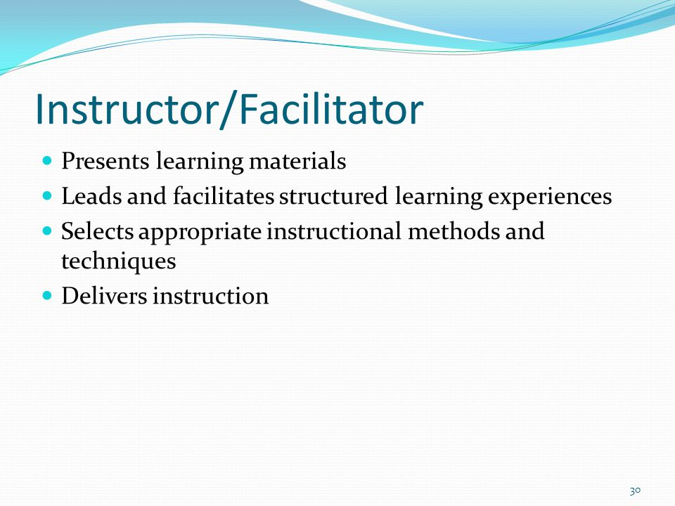 Instructor/Facilitator
