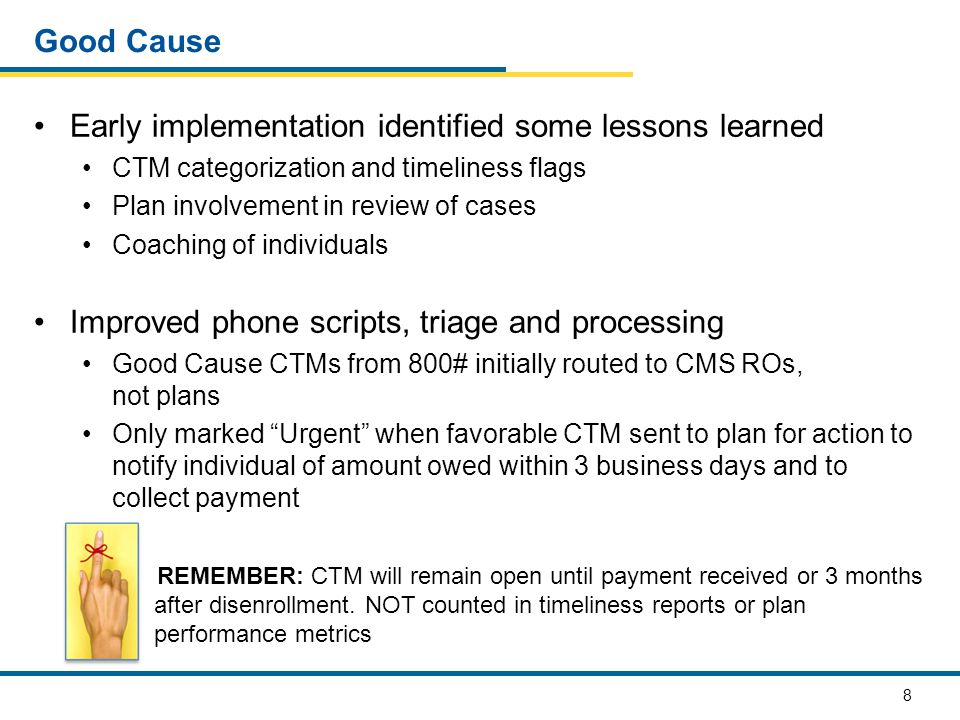Early implementation identified some lessons learned