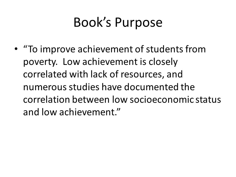 Book's Purpose