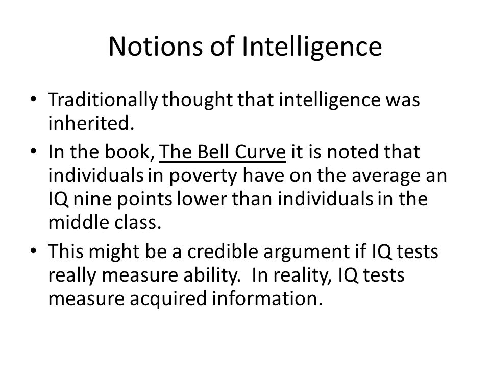 Notions of Intelligence