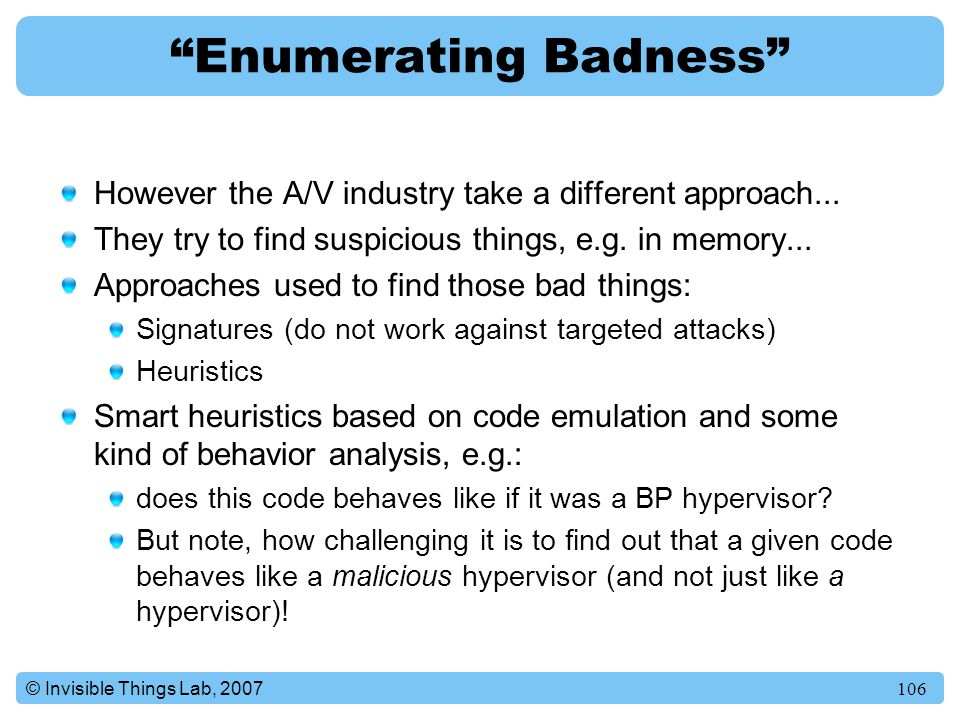 Enumerating Badness