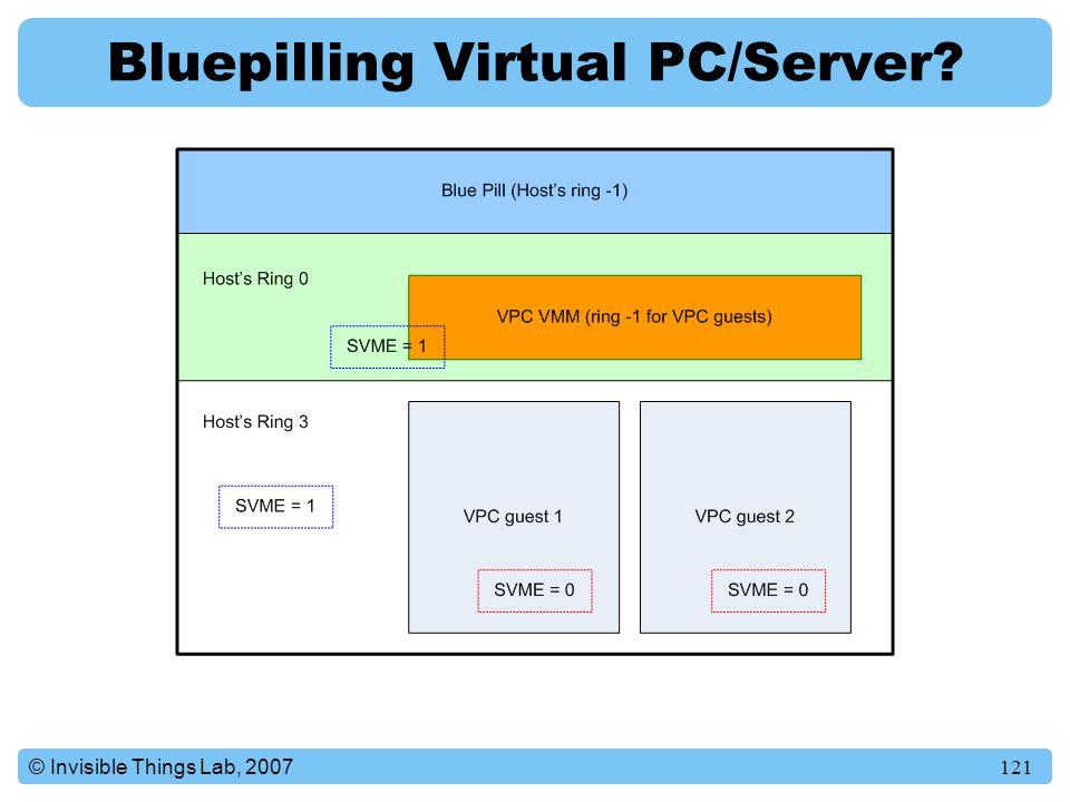 Bluepilling Virtual PC/Server