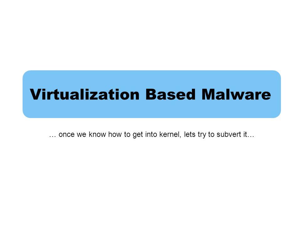 Virtualization Based Malware
