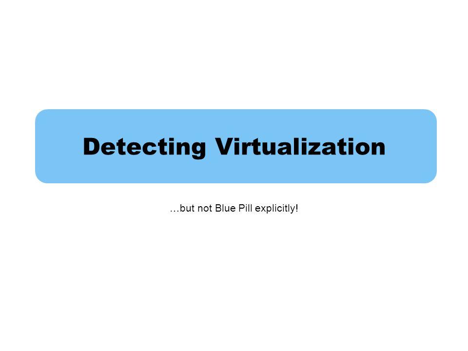 Detecting Virtualization