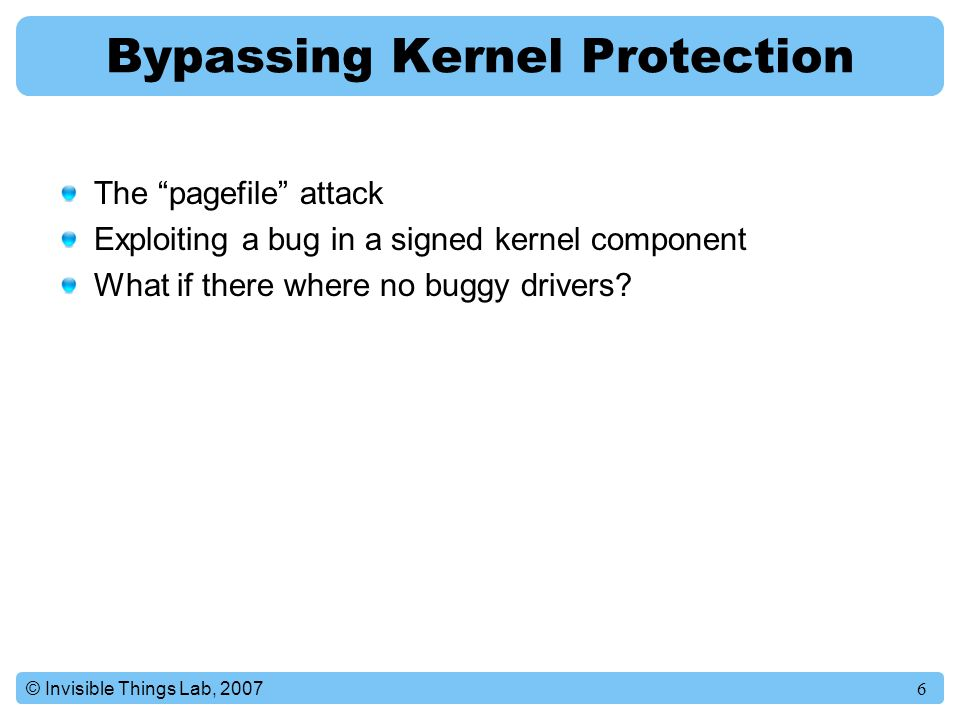 Bypassing Kernel Protection