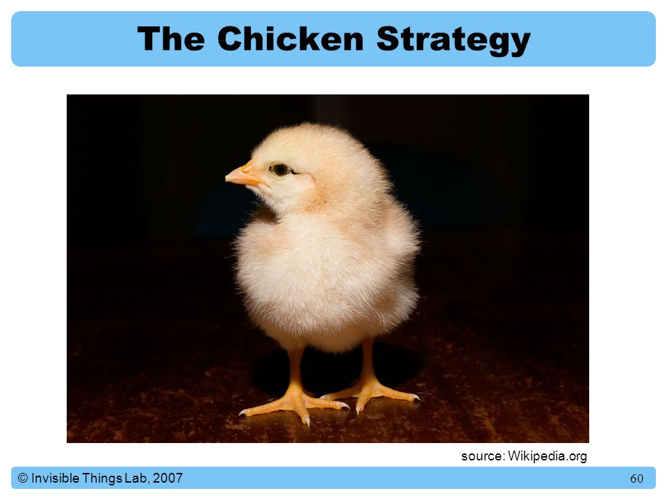 The Chicken Strategy source: Wikipedia.org