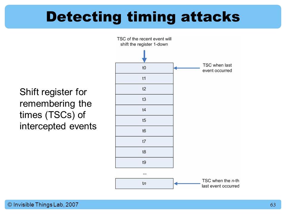 Detecting timing attacks