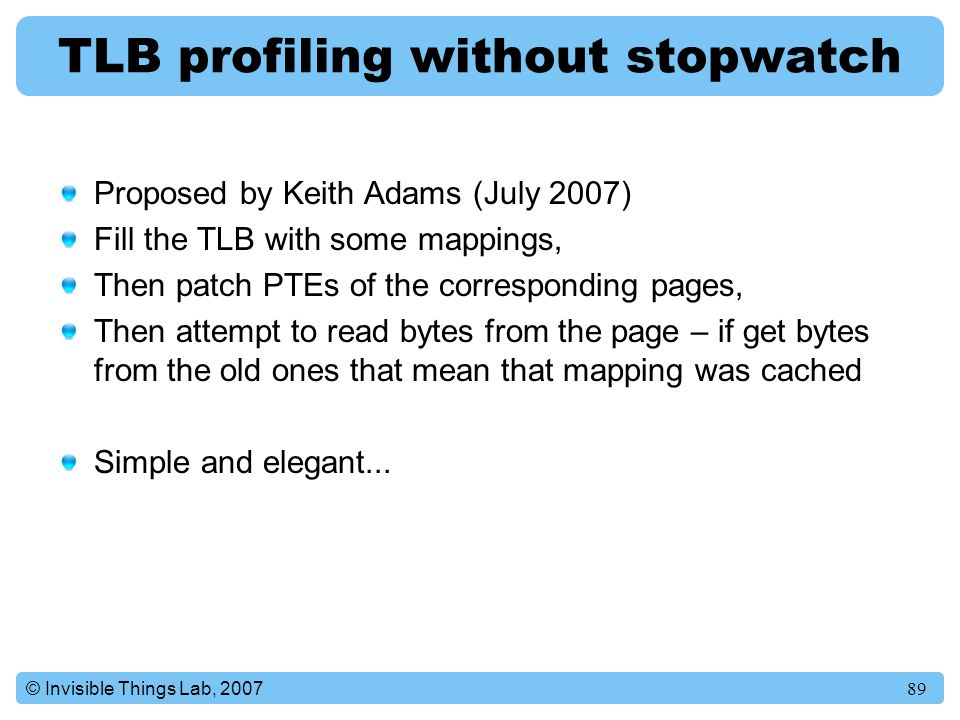 TLB profiling without stopwatch