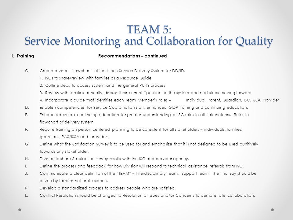 TEAM 5: Service Monitoring and Collaboration for Quality