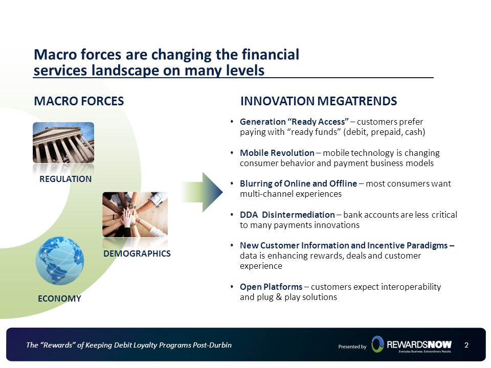 Macro forces are changing the financial services landscape on many levels