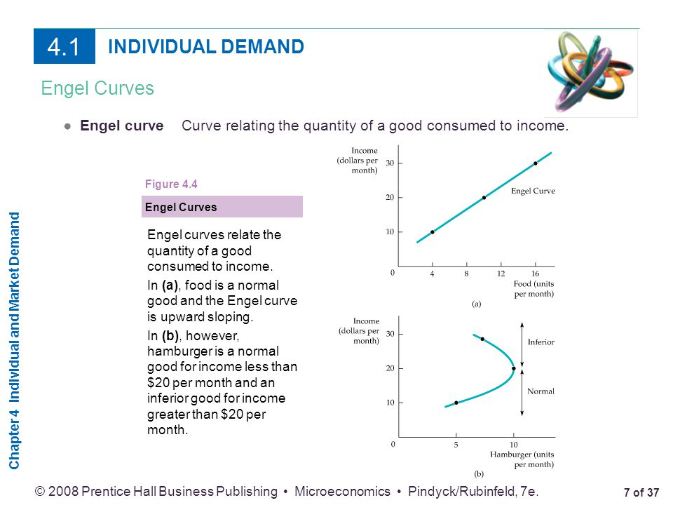 4.1 INDIVIDUAL DEMAND Engel Curves