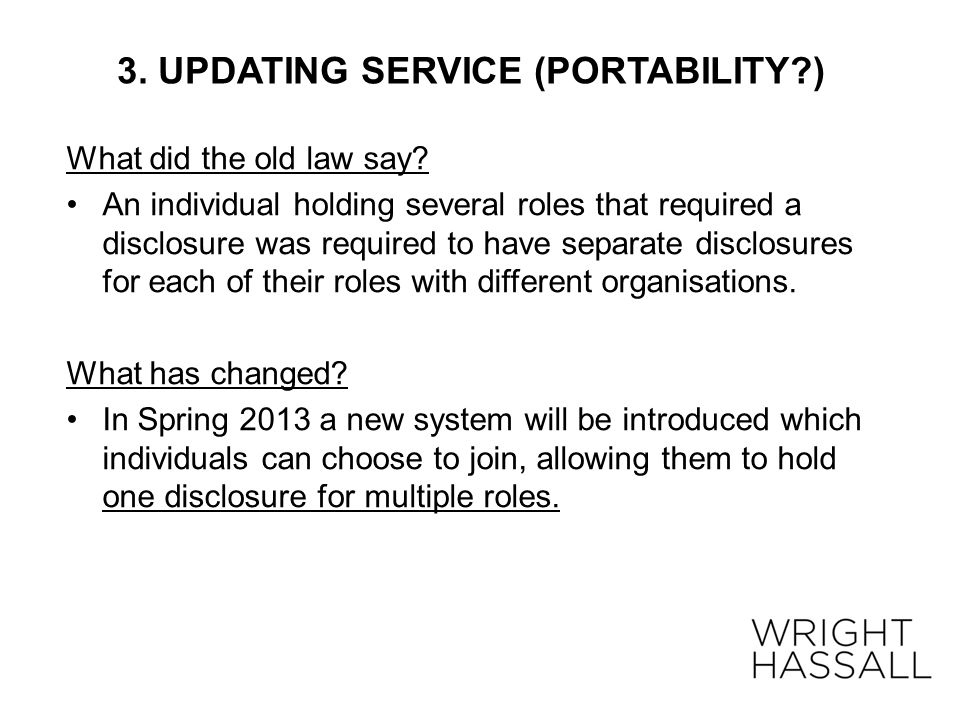 3. UPDATING SERVICE (PORTABILITY )