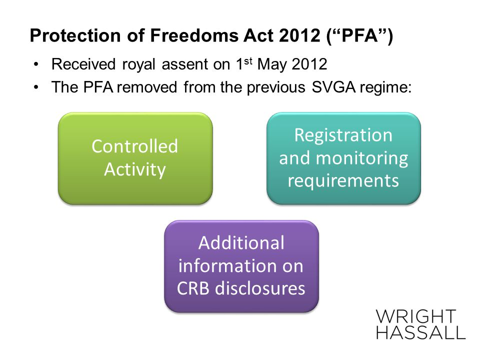 Protection of Freedoms Act 2012 ( PFA )