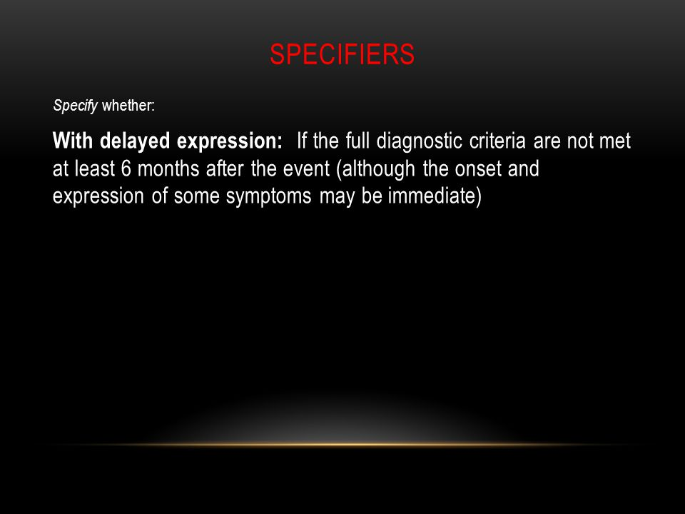 specifiers Specify whether: