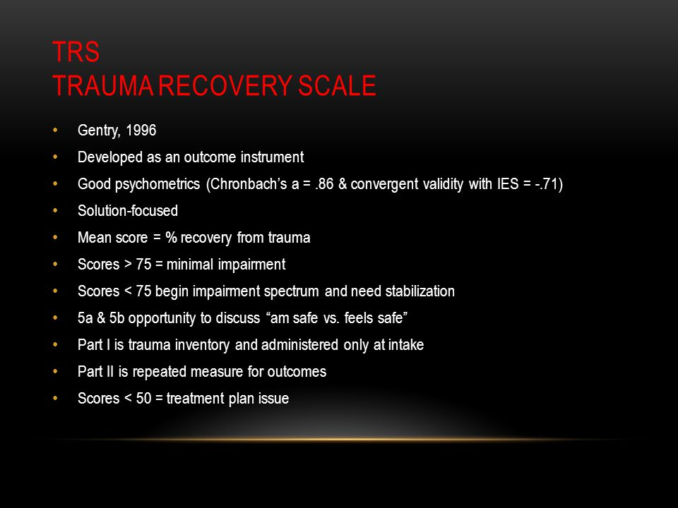 TRS Trauma Recovery Scale