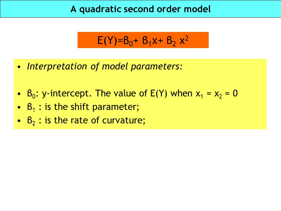 A quadratic second order model