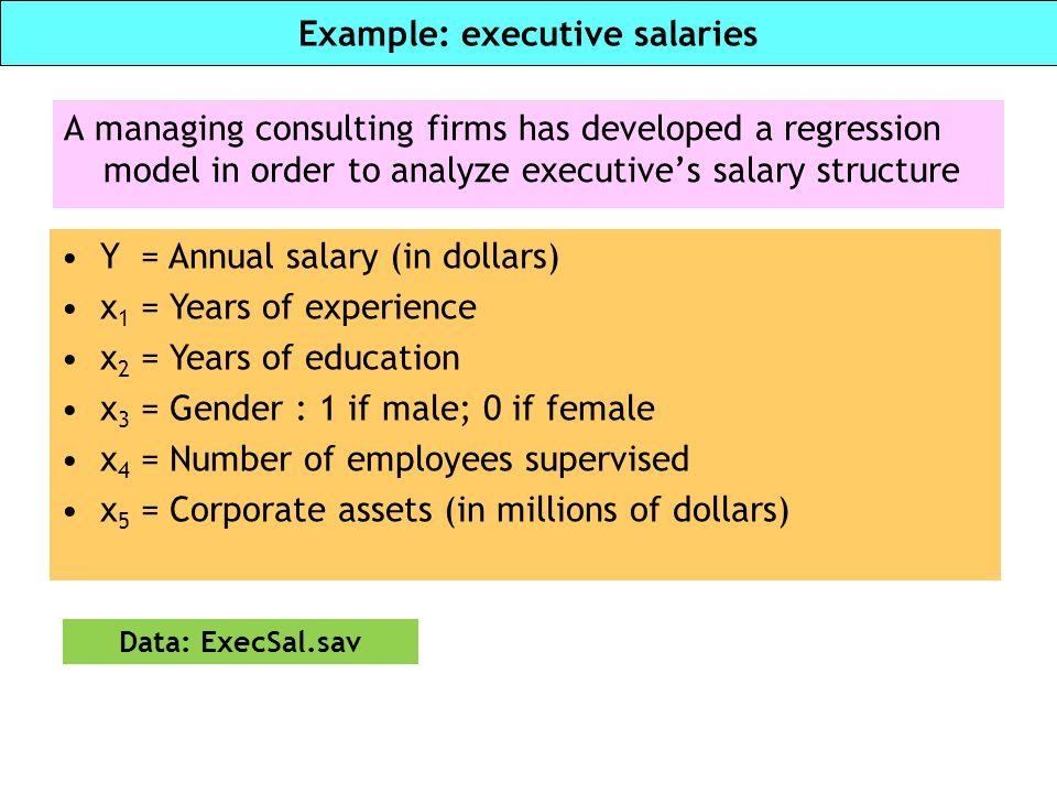 Example: executive salaries