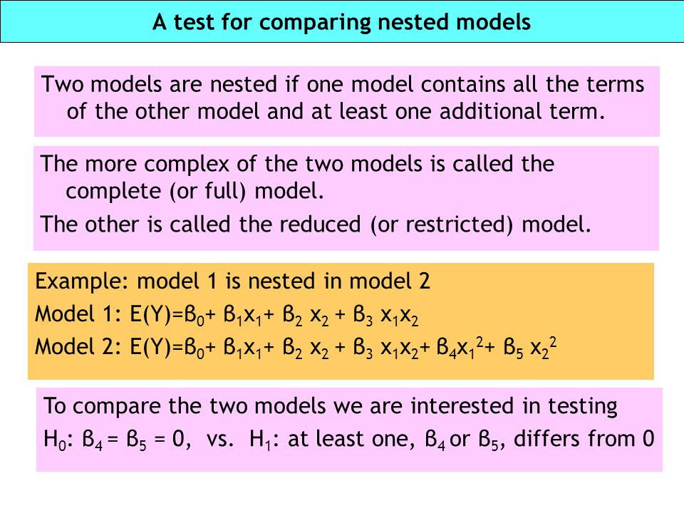 A test for comparing nested models