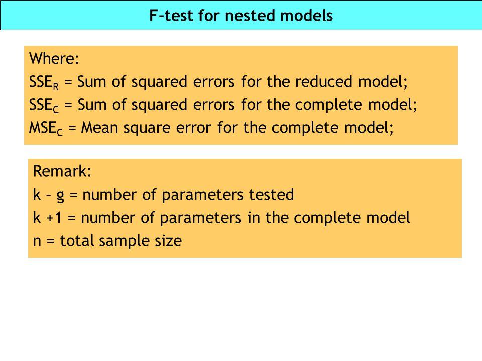 F-test for nested models