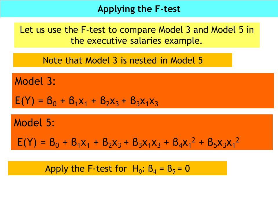 E(Y) = β0 + β1x1 + β2x3 + β3x1x3 + β4x12 + β5x3x12