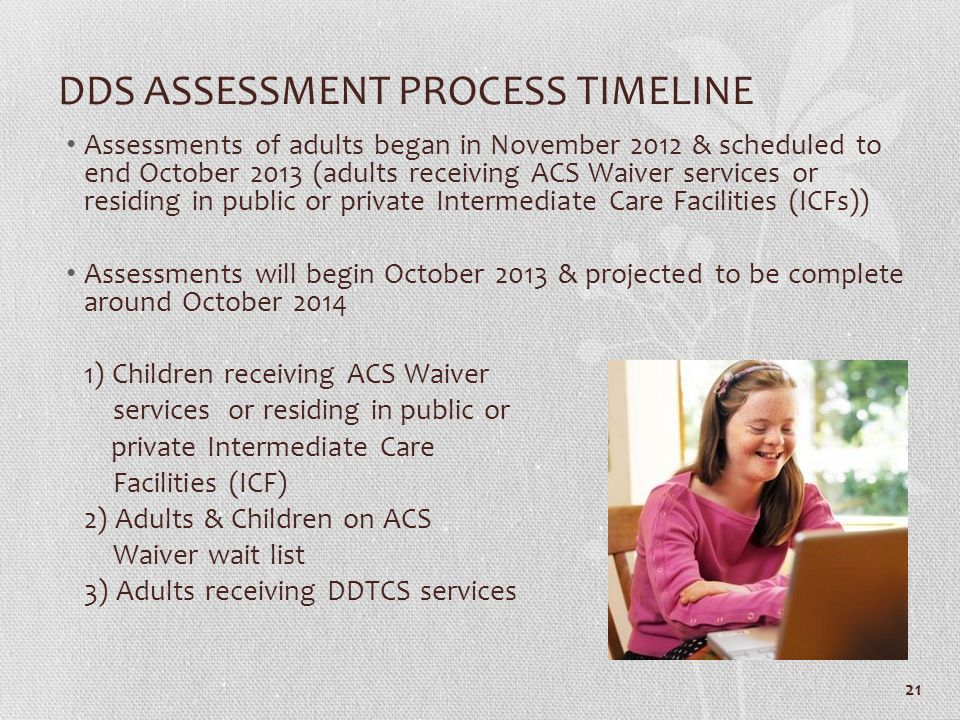 DDS ASSESSMENT PROCESS TIMELINE