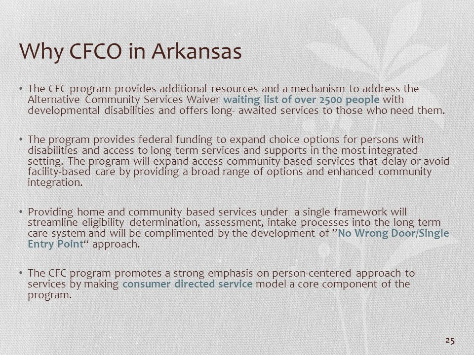 Why CFCO in Arkansas