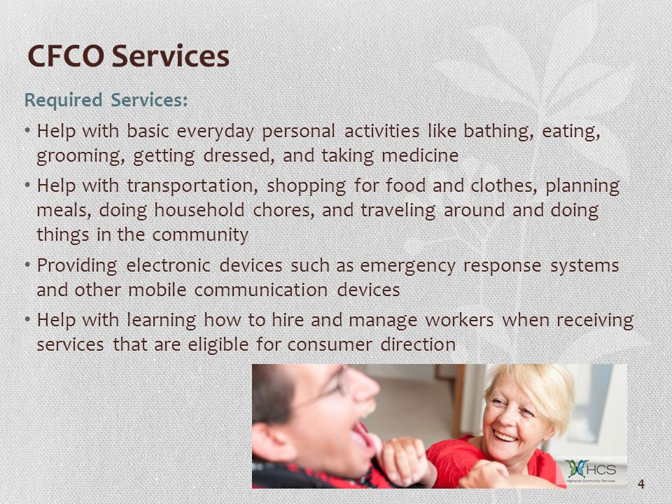 CFCO Services Required Services: