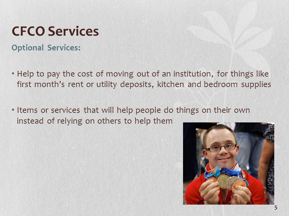 CFCO Services Optional Services: