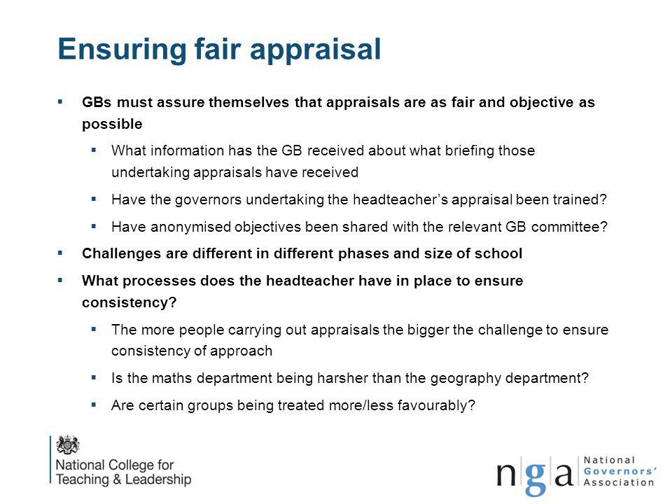 Ensuring fair appraisal