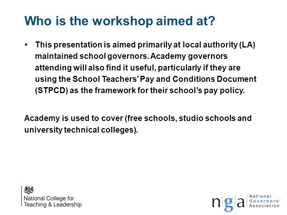 Who is the workshop aimed at
