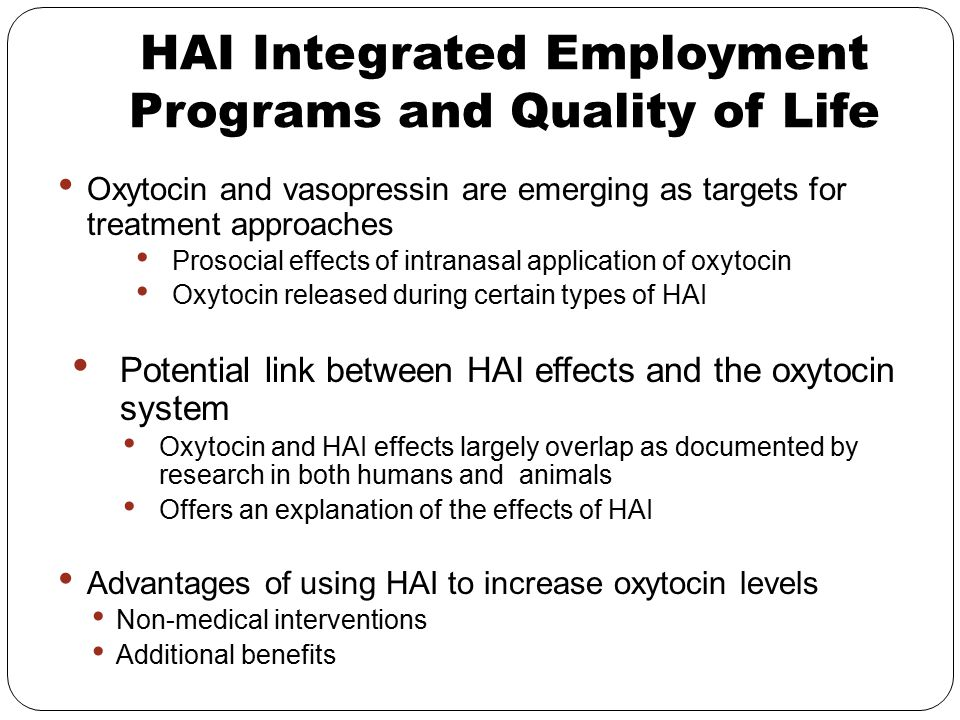 HAI Integrated Employment Programs and Quality of Life
