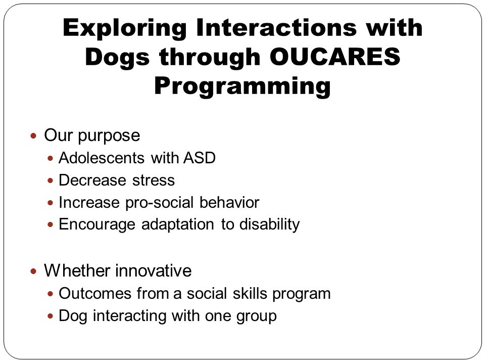 Exploring Interactions with Dogs through OUCARES Programming