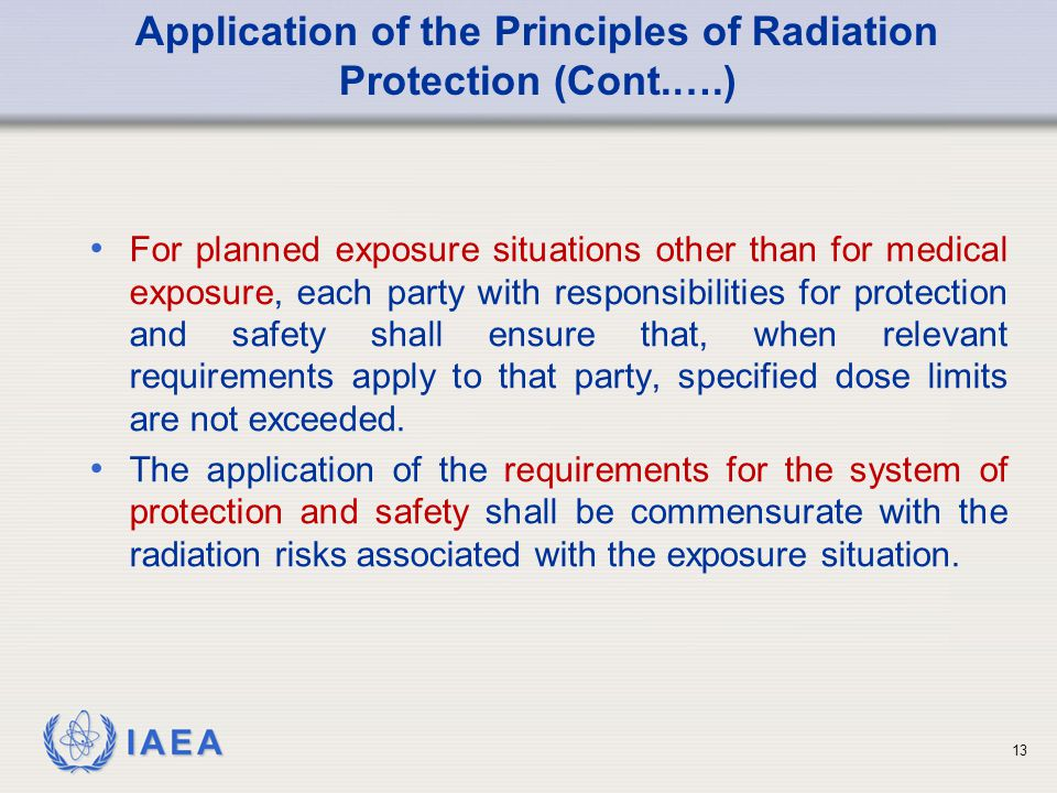 Application of the Principles of Radiation