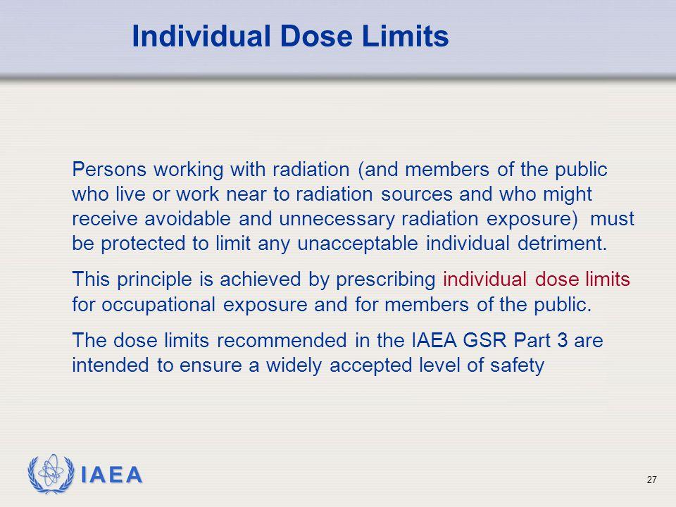 Individual Dose Limits