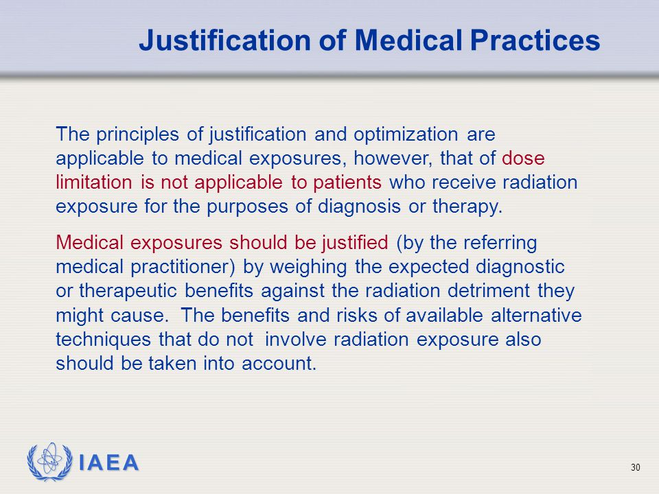 Justification of Medical Practices