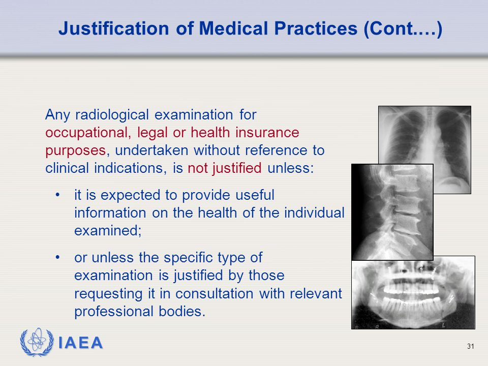 Justification of Medical Practices (Cont.…)