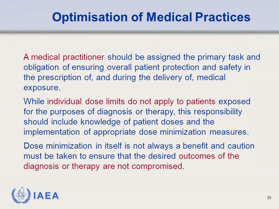 Optimisation of Medical Practices