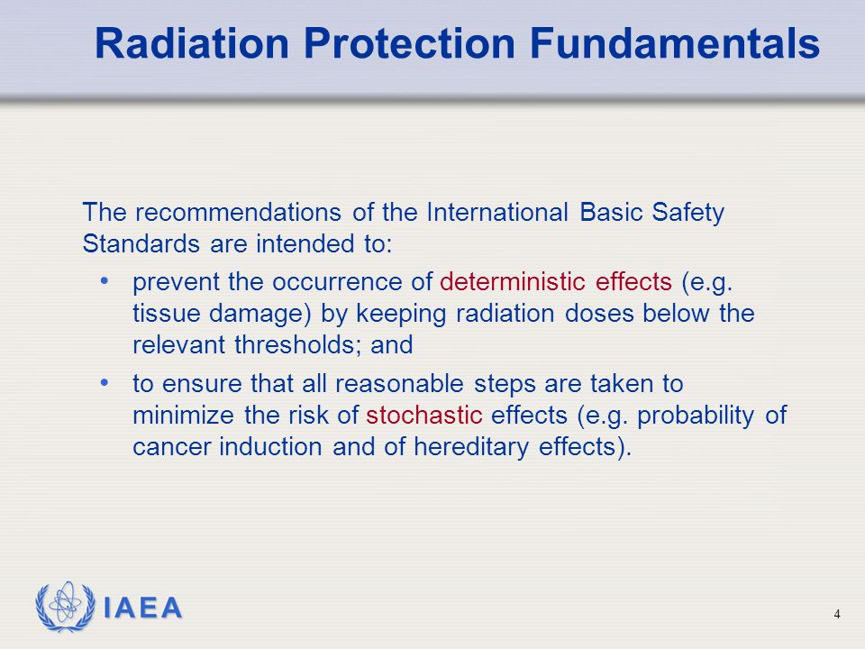 Radiation Protection Fundamentals