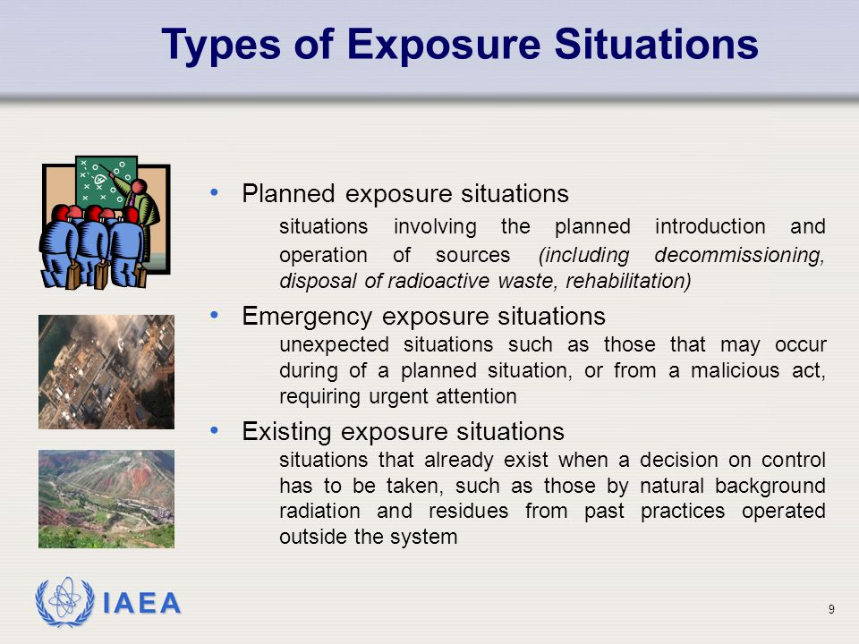 Types of Exposure Situations