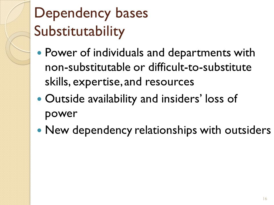 Dependency bases Substitutability